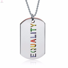 Custom Latest Model Fashion Colorful Letter stainless Steel Jewelry Necklace